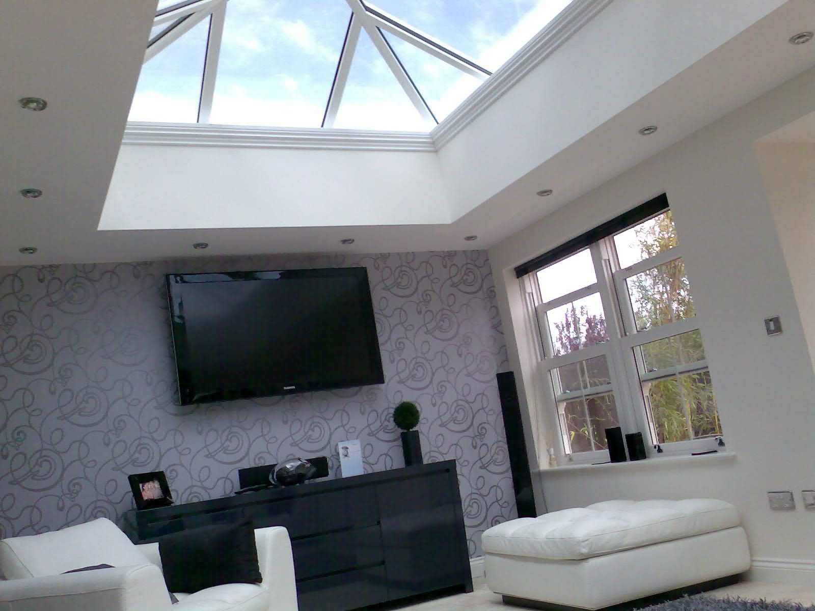 Interior of ultraframe orangery installed by acps for Orangery interior design ideas