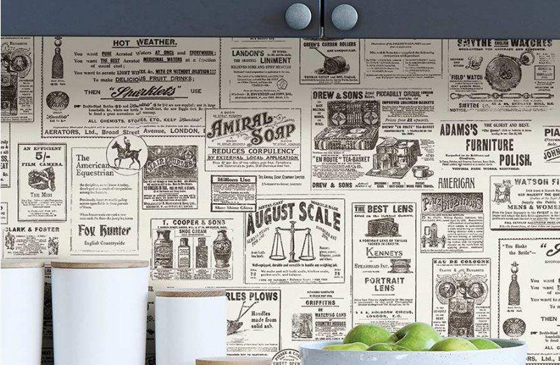 Vintage Newspaper Peel And Stick Wallpaper Peel And Stick Wallpaper Vintage Newspaper Wallpaper