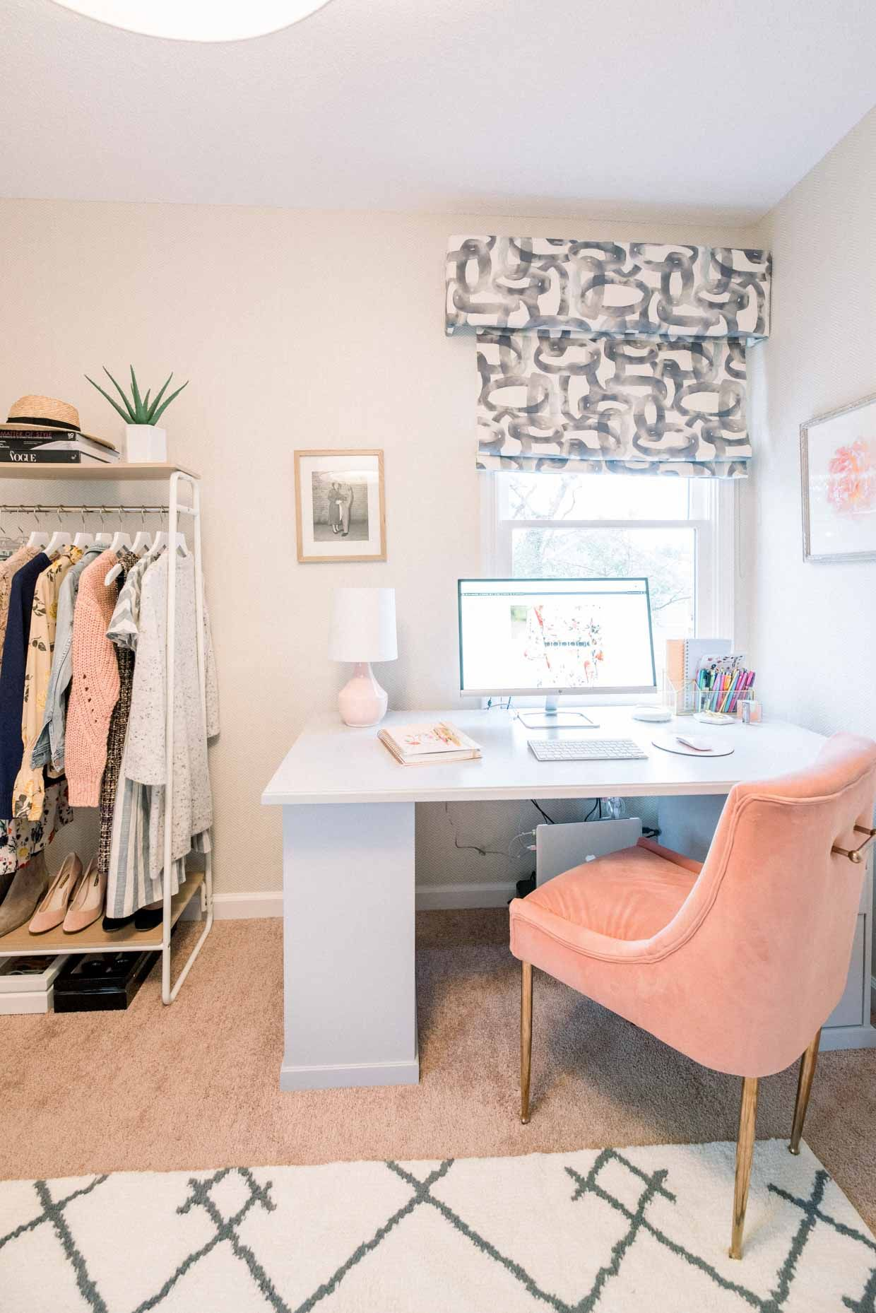 How I Decorate My Home Office Poor Little It Girl Small Space