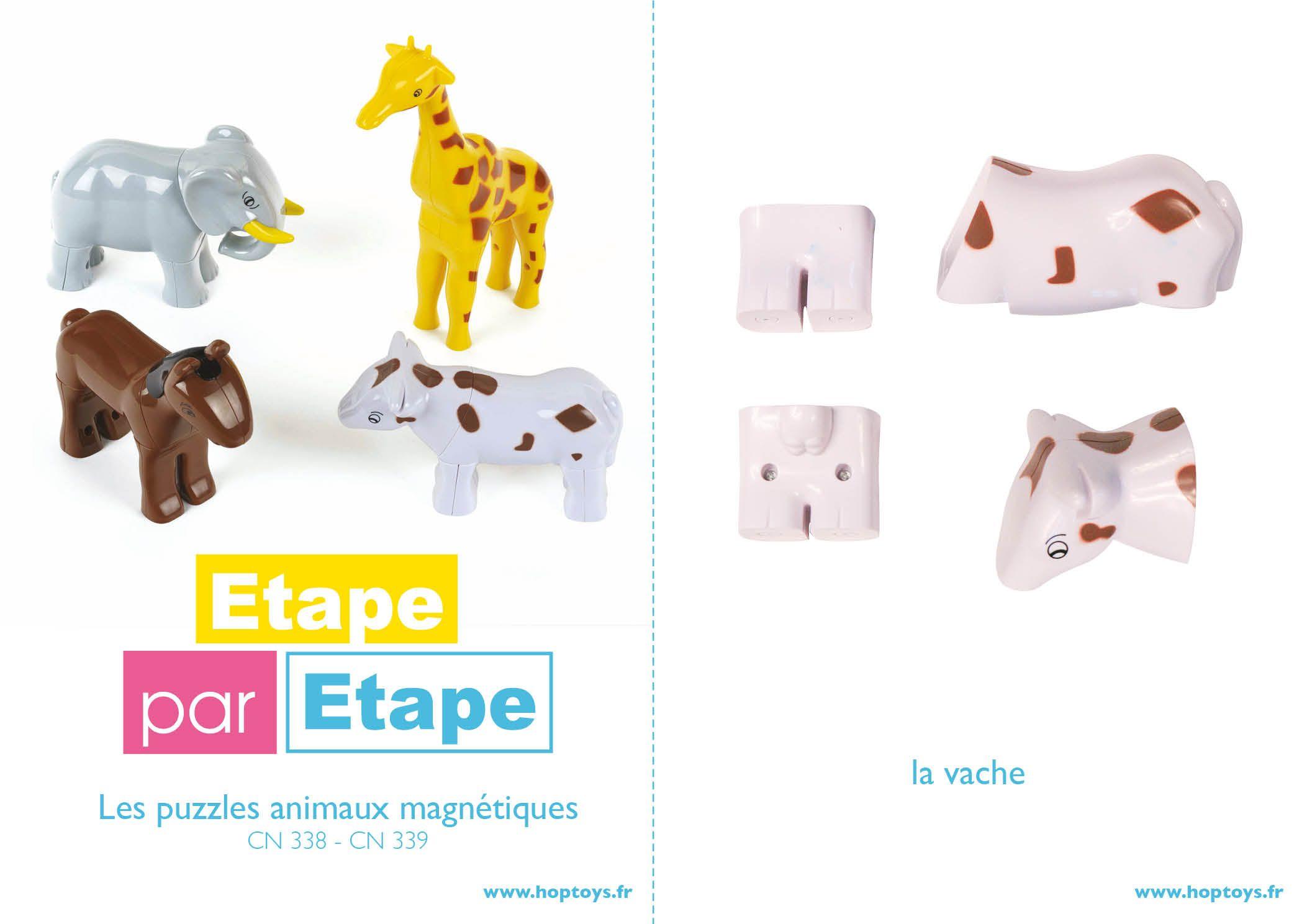 #etapeparetape construiree les animaux magnétiques #créativité #puzzle  http://bit.ly/1yaZXRI http://bloghoptoys.fr/ETAPE/etape-cn338.pdf