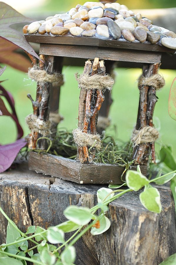 Love The Birdhouse Makeover For A Fairy Garden!