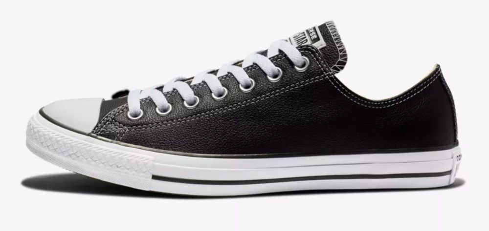 b28ba4a665b93c New Converse Mens Chuck Taylor All Star Ox Low Top Black Leather Shoes Size  7  Converse  FashionSneakers