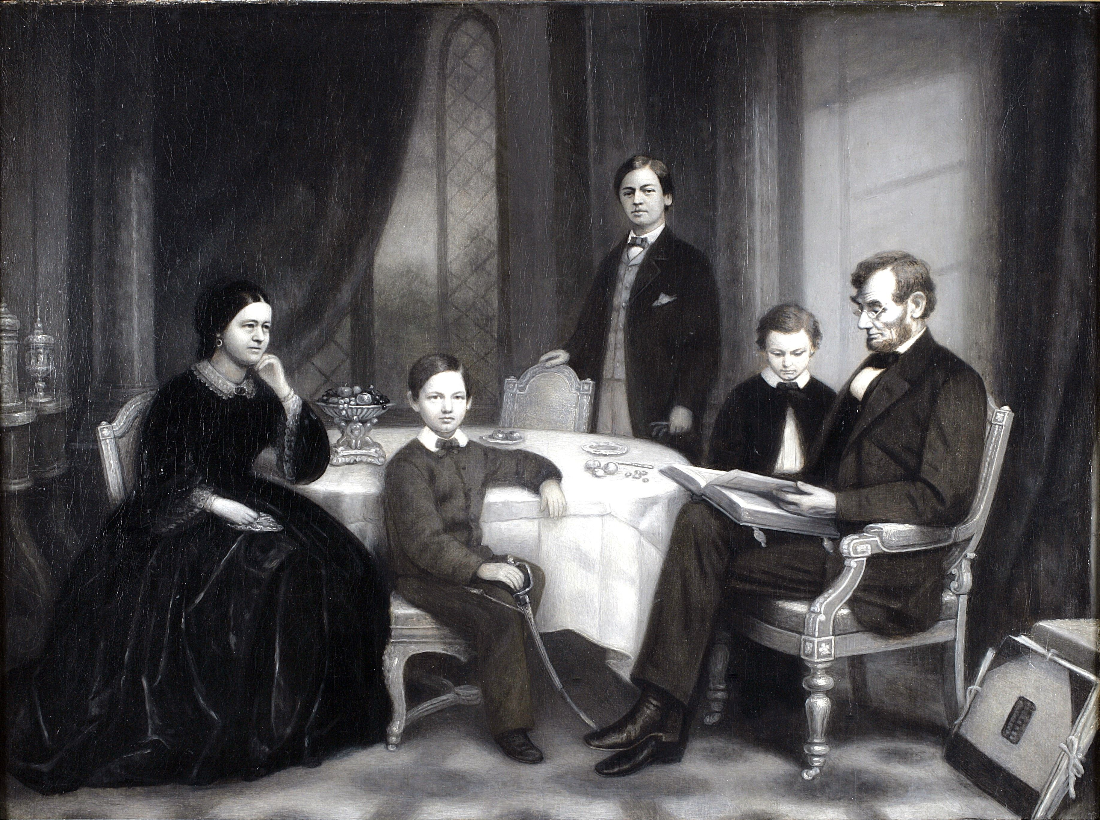 Mary would not pose For this family portrait Too distraught, Too sad