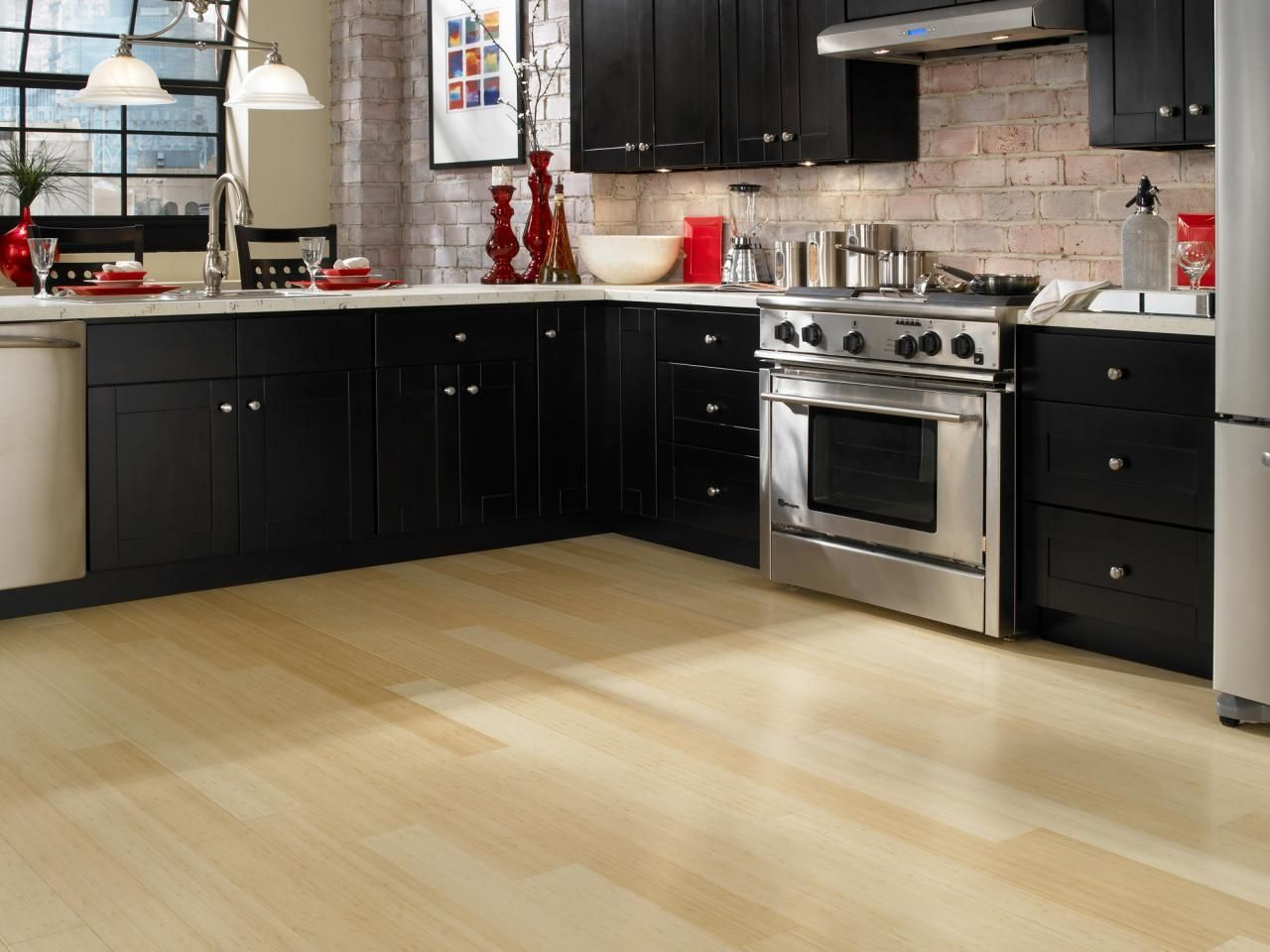 Light Colored Kitchen Floors  Httpsinhvienthienan Entrancing Kitchen Floor Options Decorating Design