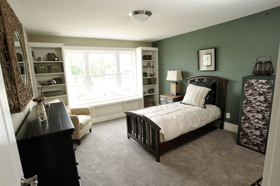 Green Bedroom Color Schemes dark green bedroom color scheme | indigo blue bedroom | pinterest