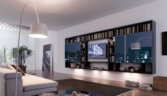 Modern Living Room Wall Units how to use living room walls to create modern shelves | living