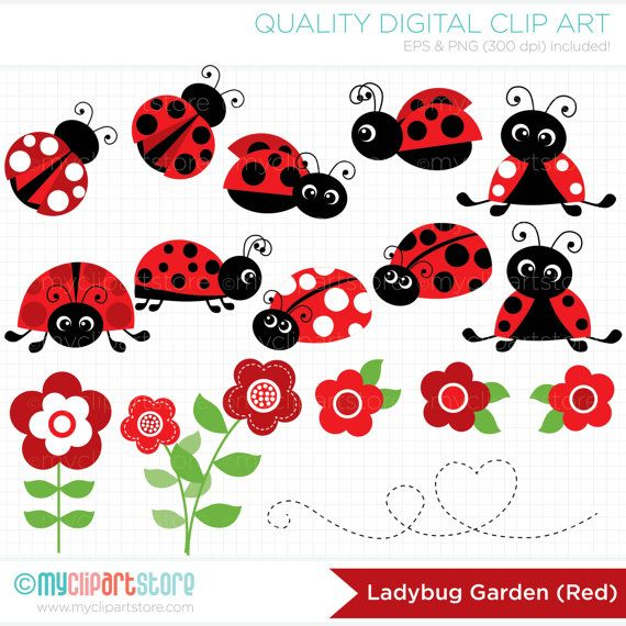Ladybug garden clipart red ladybugs ladybirds flowers spring red ladybug garden vector clip art red ladybugs ladybirds flowers spring garden stopboris Images