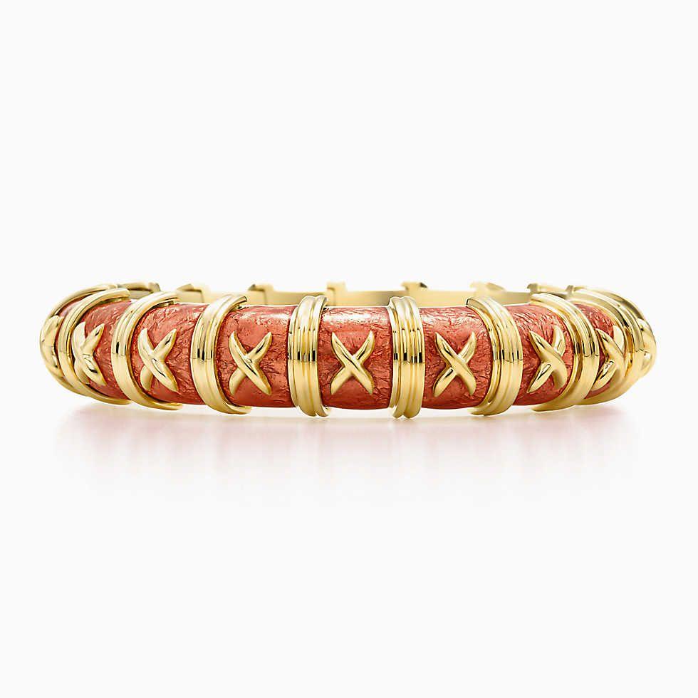 e51c75dab Tiffany & Co. Schlumberger® Croisillon bracelet in 18k gold with enamel.