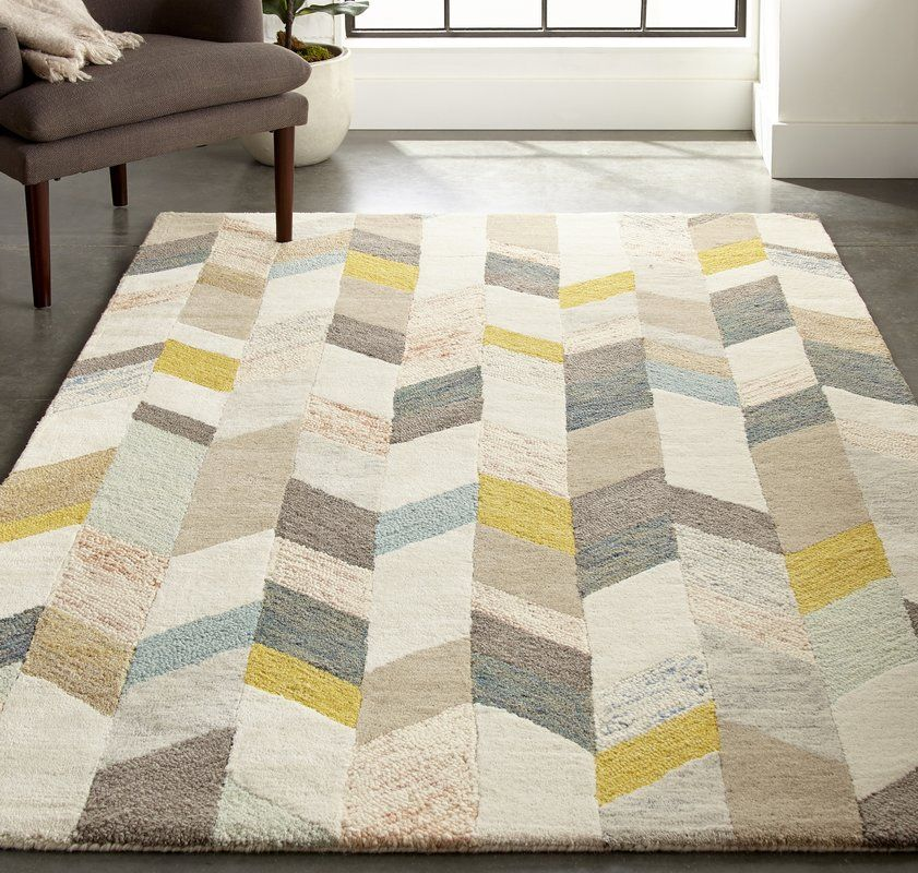 Christine Hand Tufted Gray Gold Area Rug Area Rugs