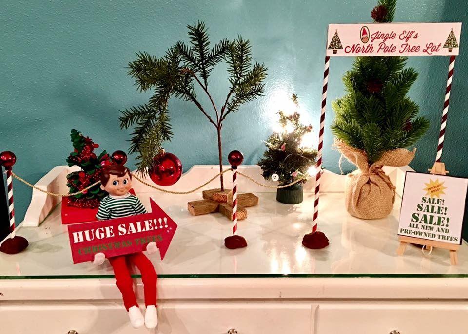 Huge Sale At The Tree Lot Going On Now Christmastrees Elfontheshelf Elf Elfontheshelfideas Xmas Elf Elf Fun Christmas Elf
