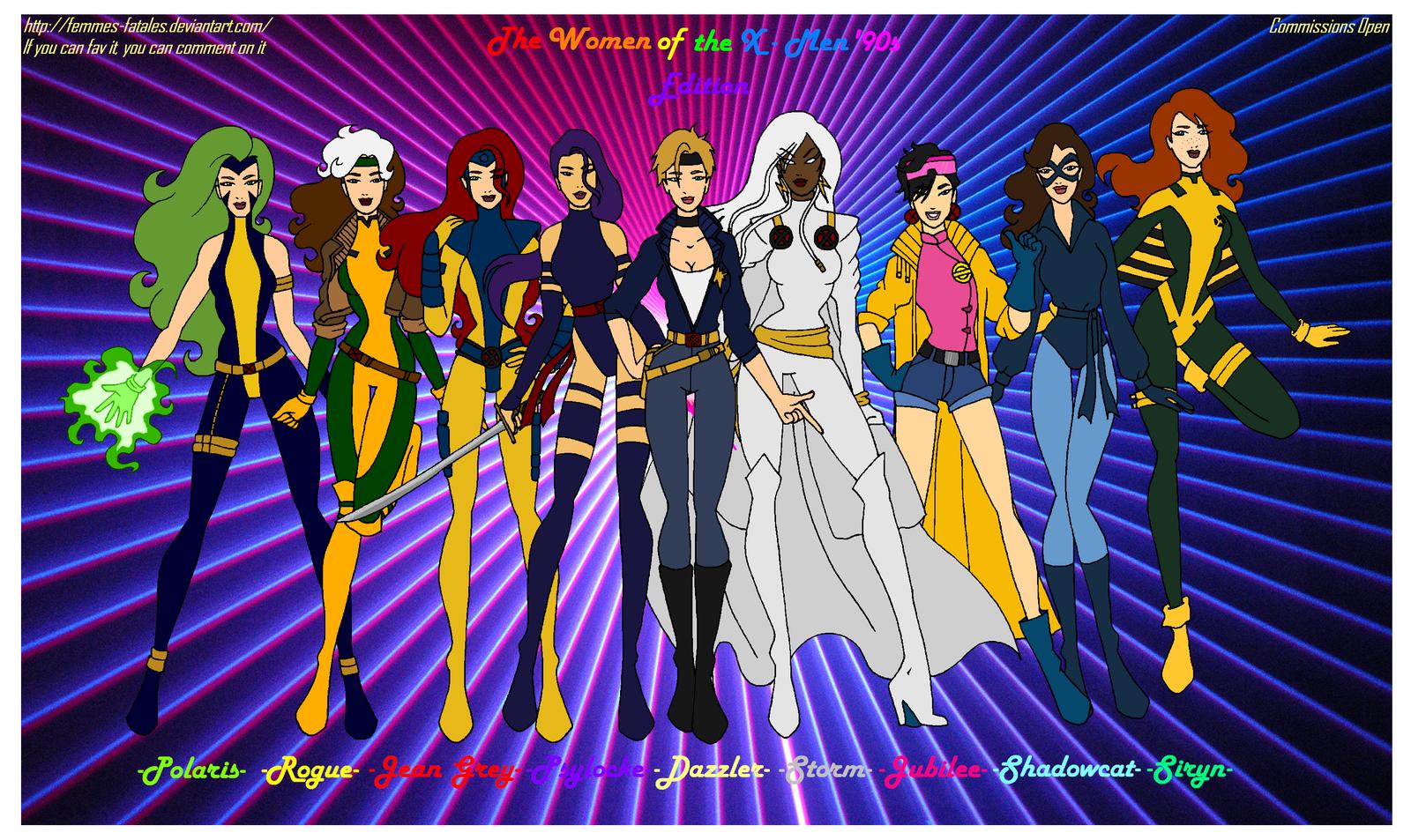 X Men Girl The Women of the X-Men...