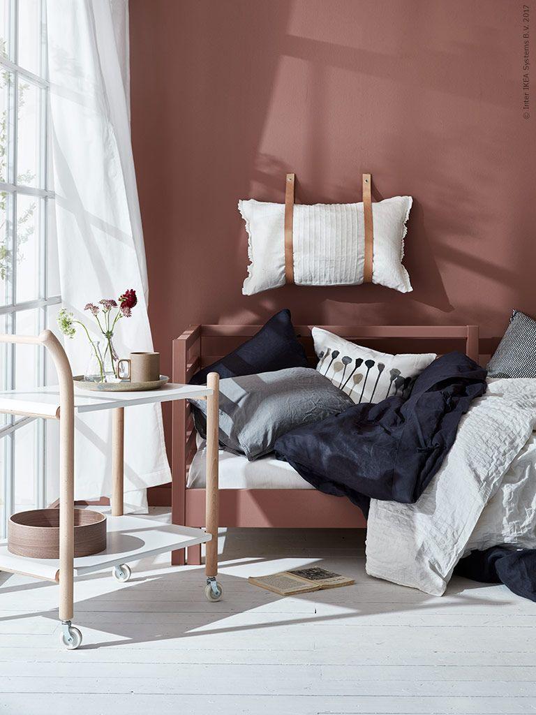 IKEA PS 2017 sidobord med hjul, TARVA dagbädd Sovrum Pinterest Ikea, Livet och För hemmet