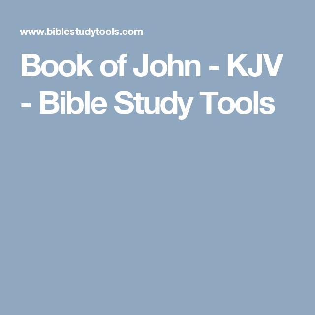 Book of john bible study kjv