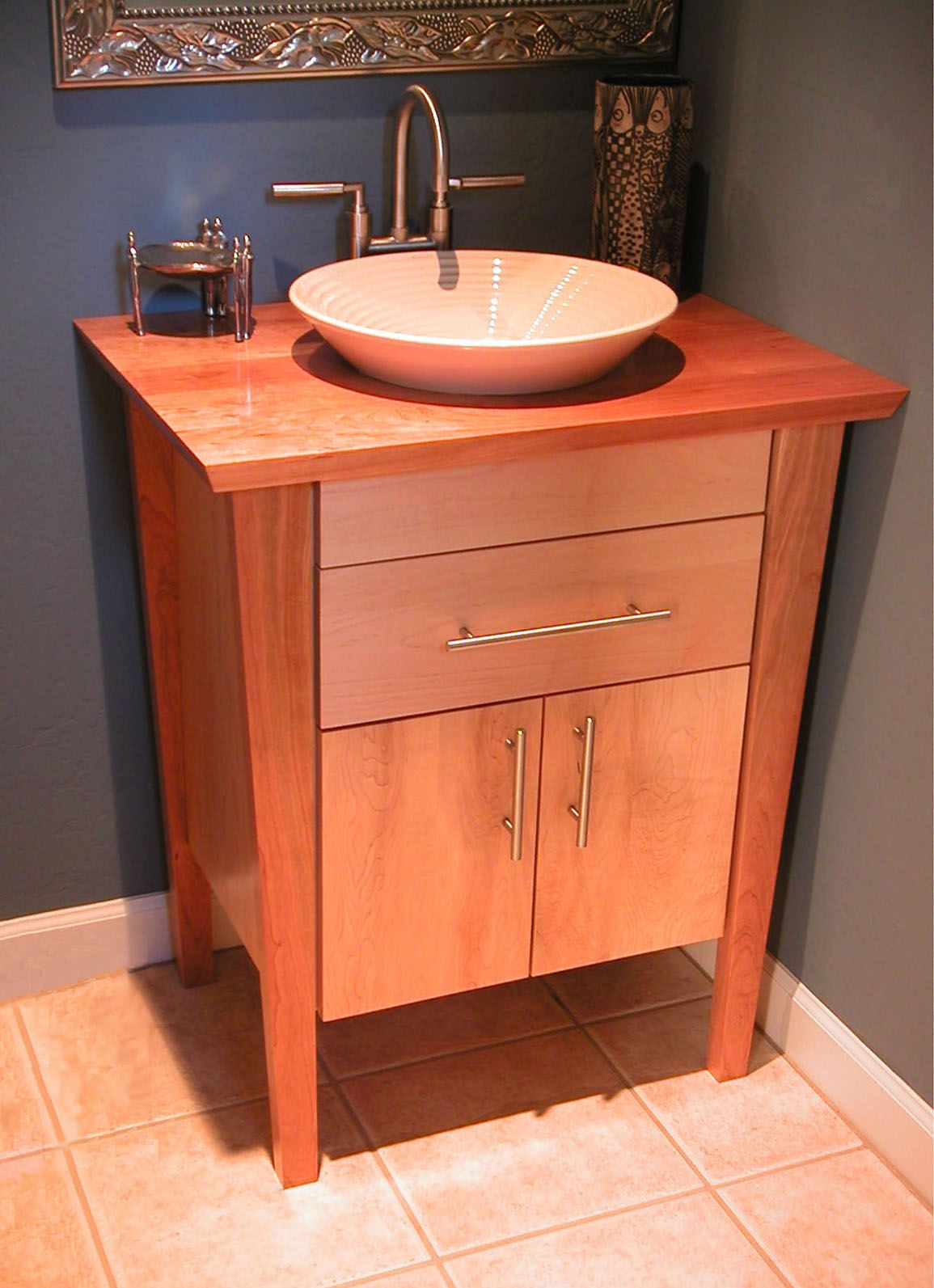 Furniture for Sale Contemporary Cherry and Maple Vanity