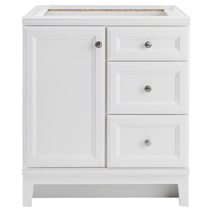 Diamond Freshfit Calhoun White Bathroom Vanity Common 30 In X 21 Actual