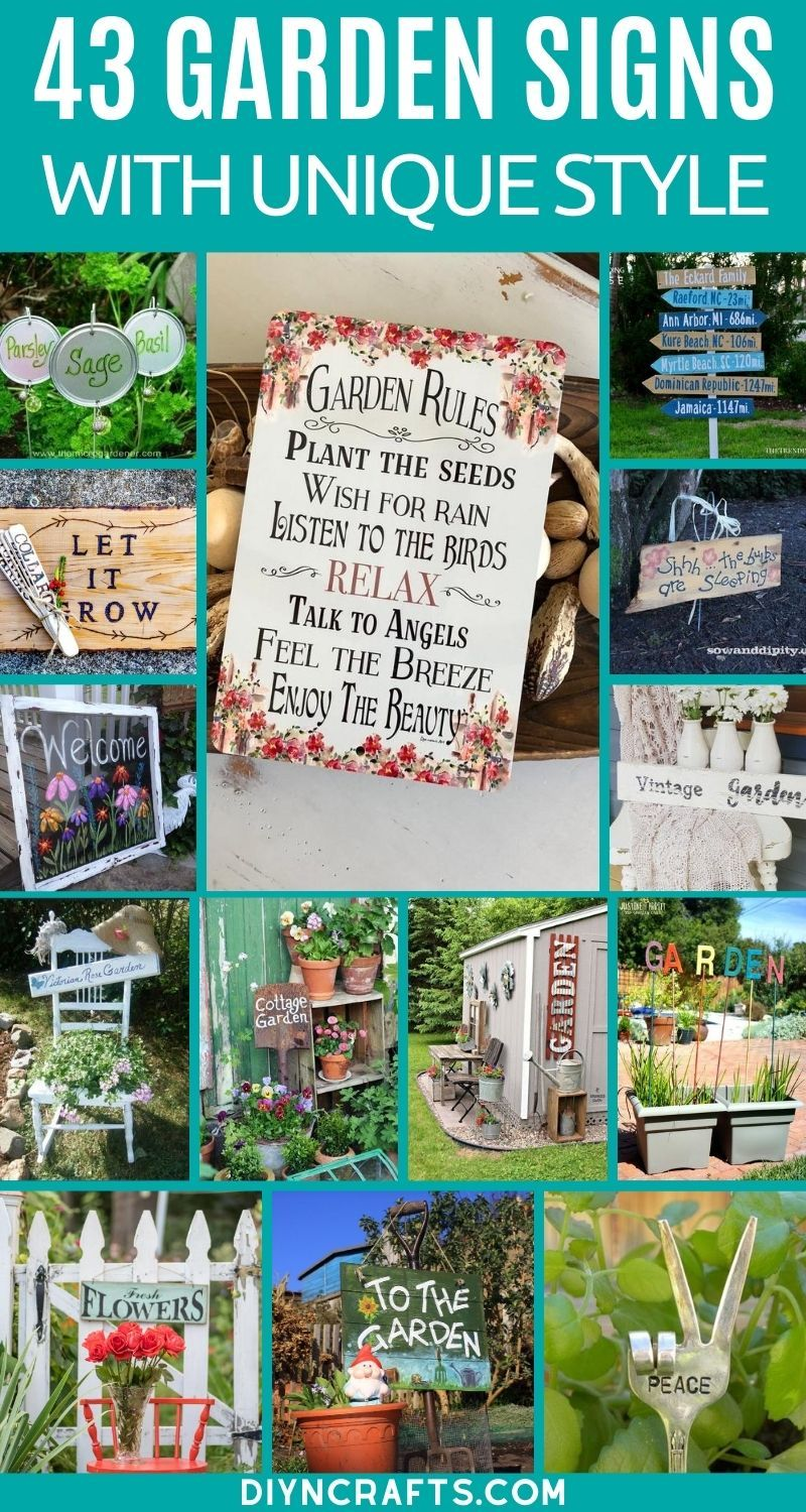 43 diy garden signs to beautify and decorate your garden