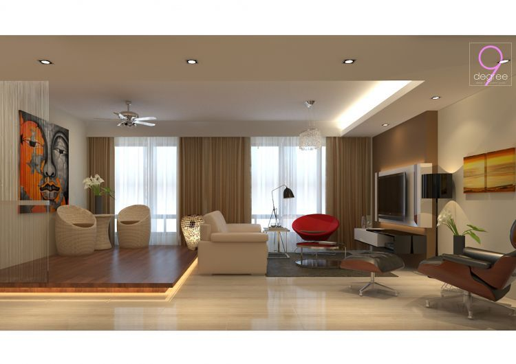 Anchorvale Cove - HDB 5 Room - Living Room. Design by 9 Degree Construction  Pte