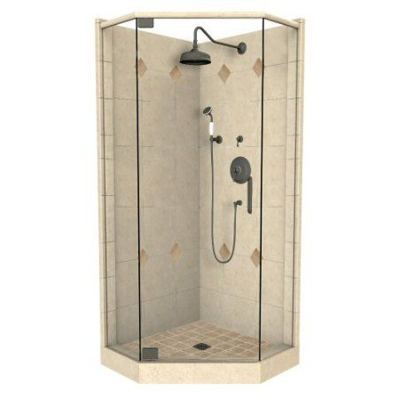 36 X 32 Neo Angle Left Cut Shower System Kit
