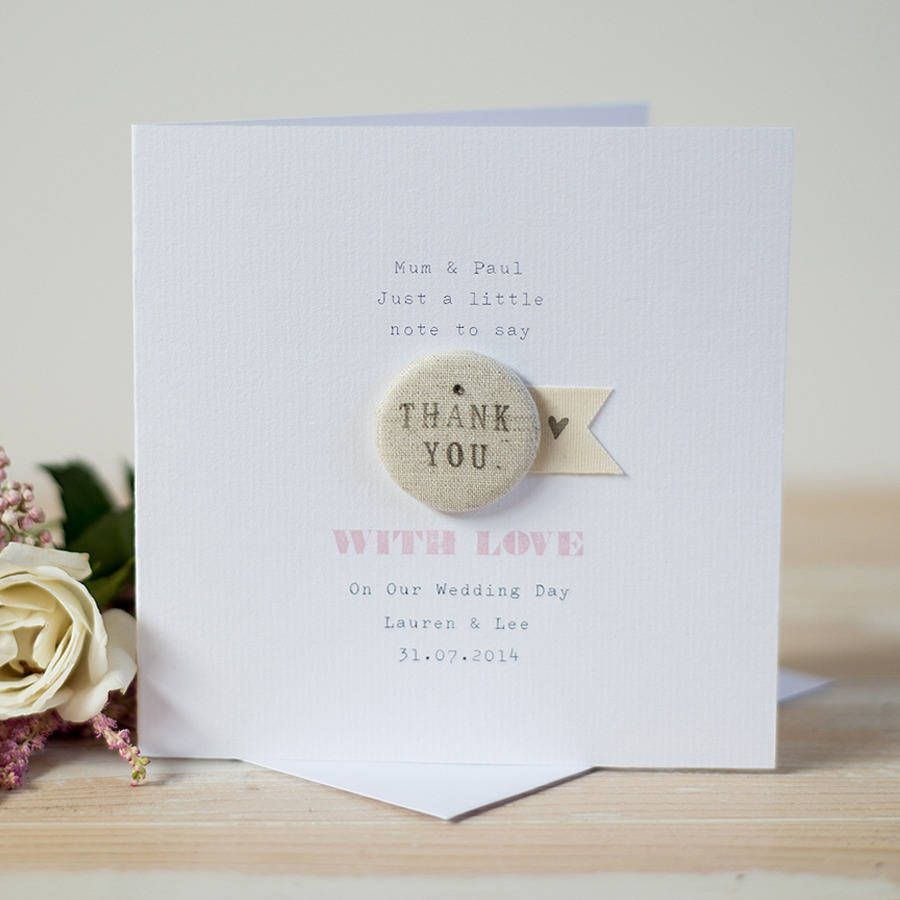 Personalised Wedding Thank You Card By Button Box Cards