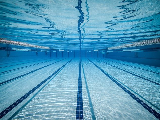 Swimming pool lanes underwater swimming exercise - Watford swimming pool with slides ...