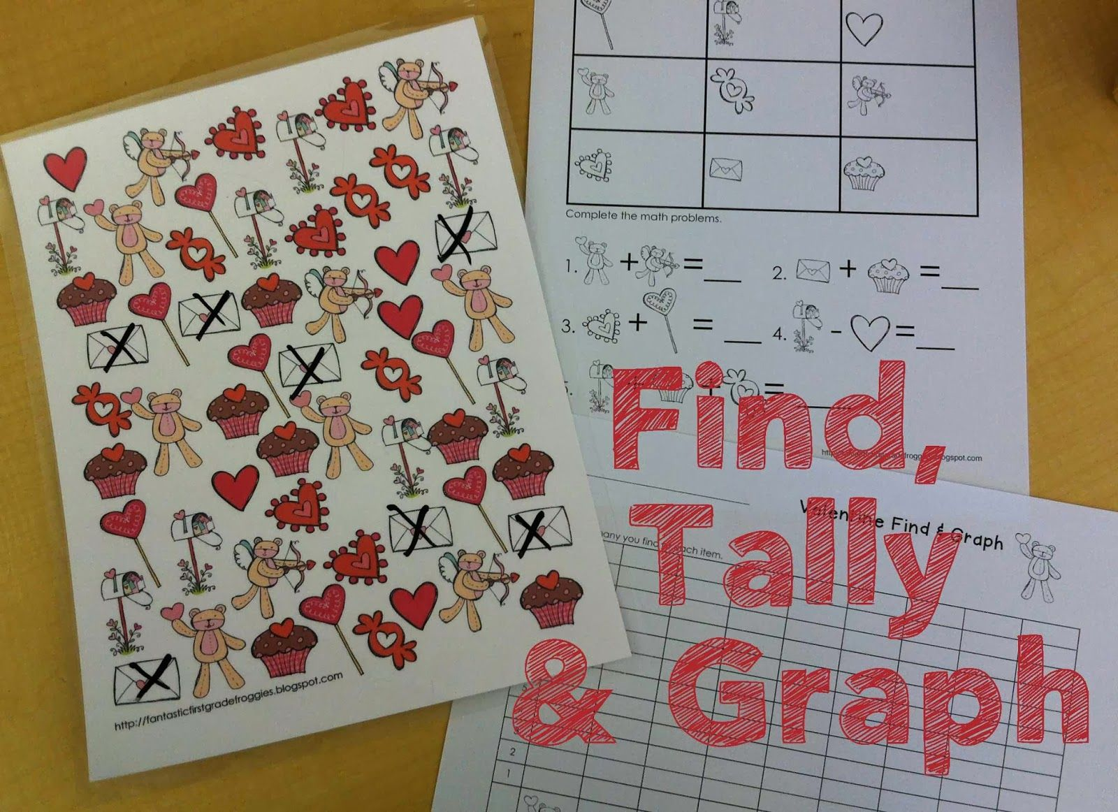 Valentine S Day Math Centers Find Tally And Graph