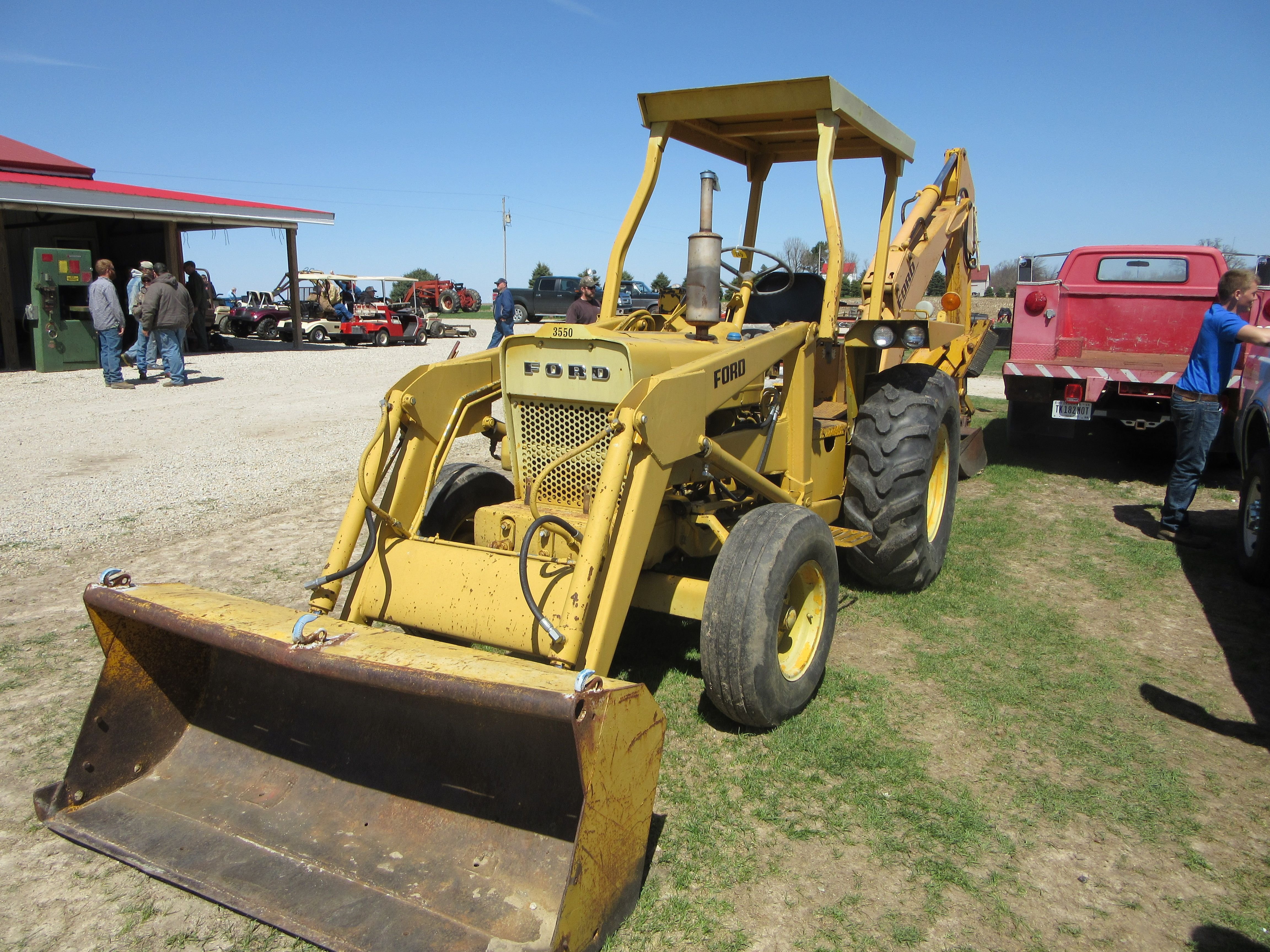 ford 555d backhoe specs weight