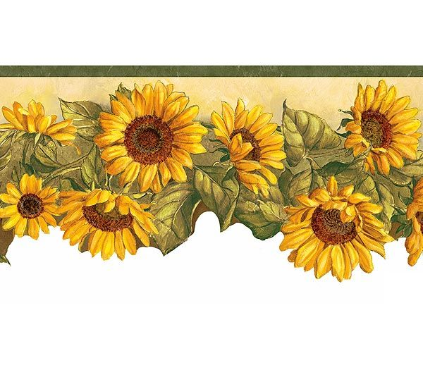 Wallpaper Borders Sunflower Wallpaper Sunflower Themed Kitchen Sunflower Decor