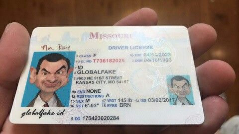 Fake Missouri Drivers License Template - crisejames