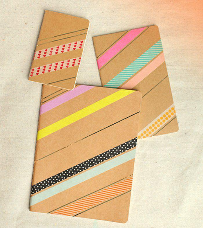 Heftchen mit Washi Tape dekorieren