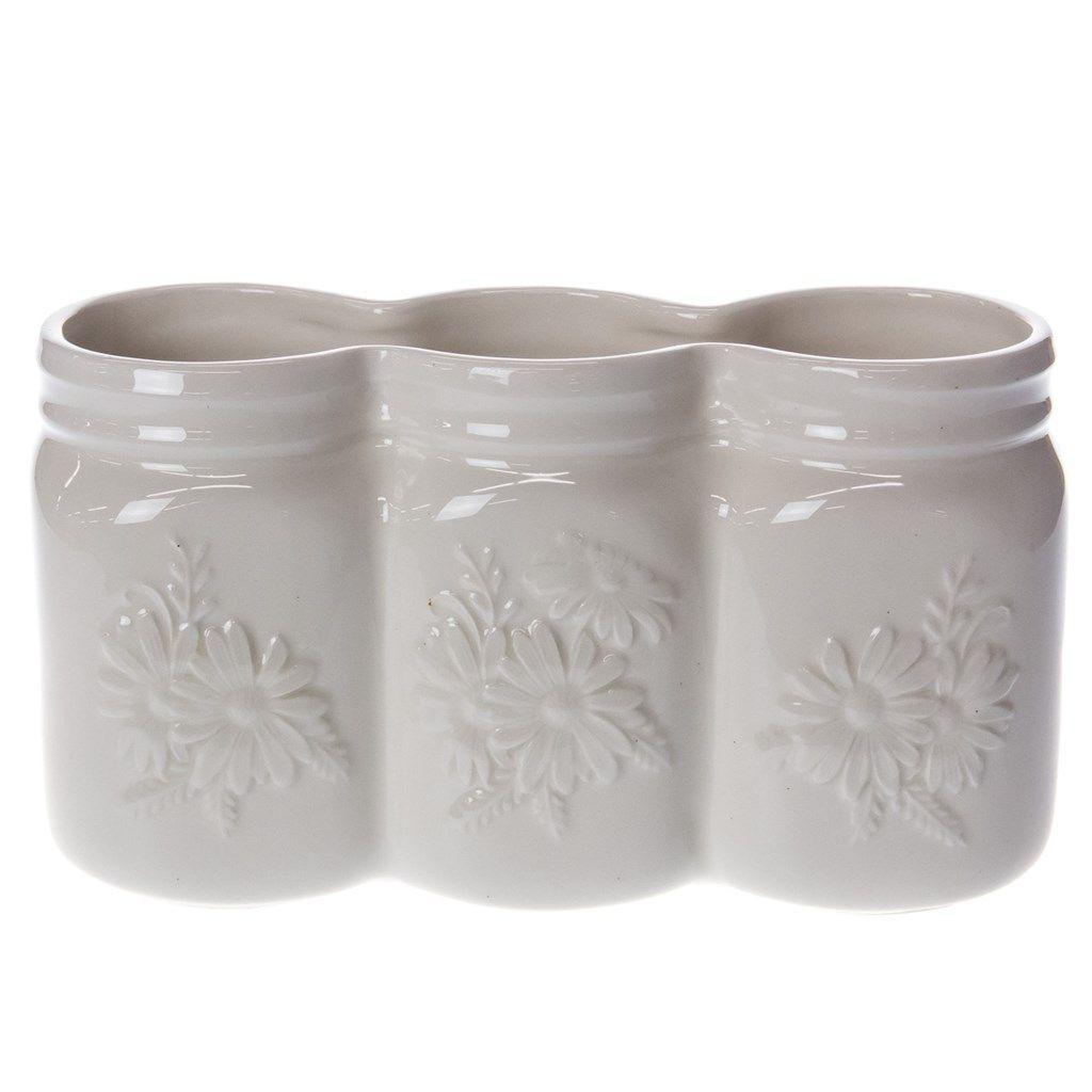 oh gussie ceramic mason jars indoor planter home furniture