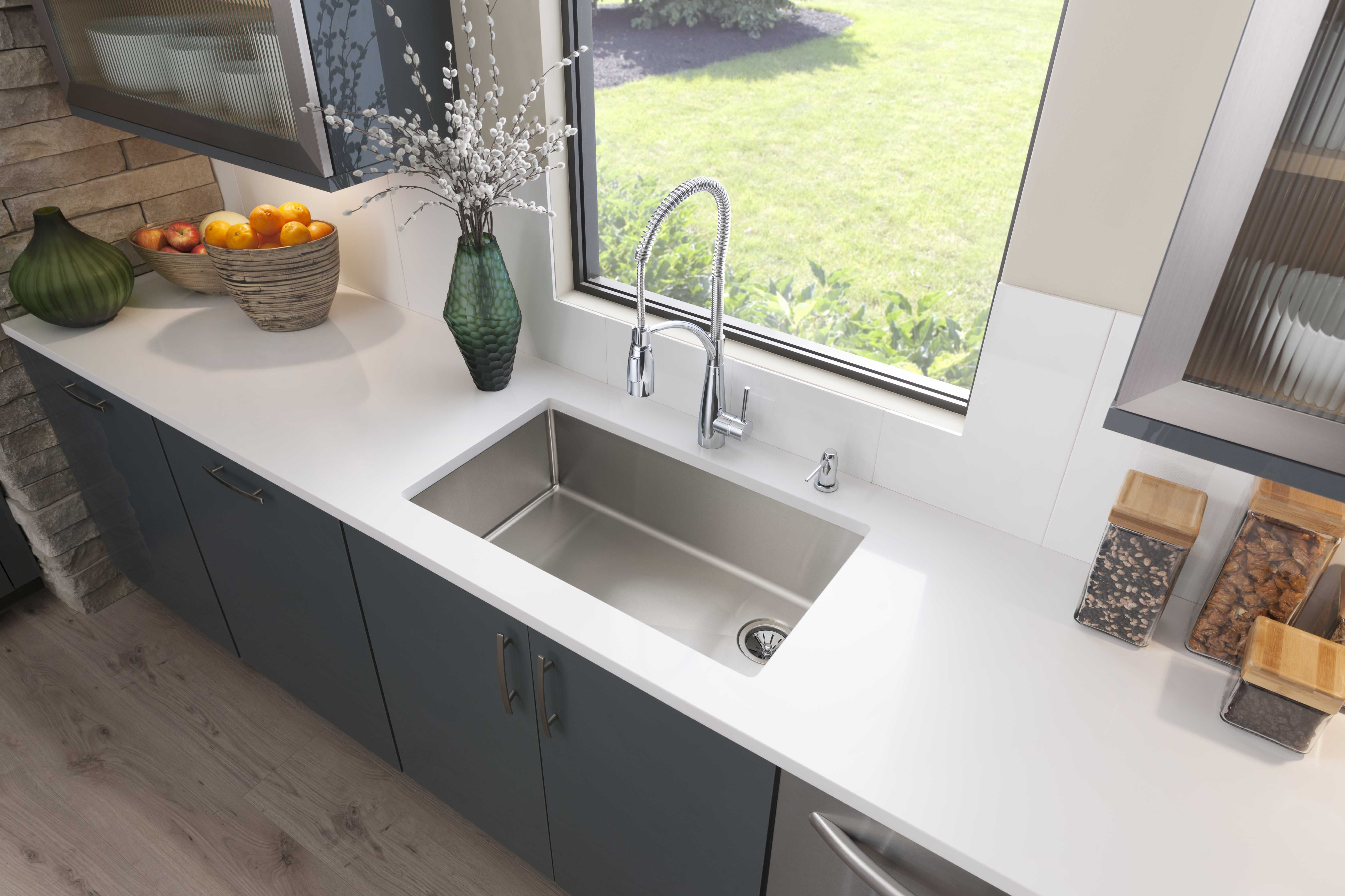 Elkay Crosstown Stainless Steel Sink Single Bowl Kitchen Sink