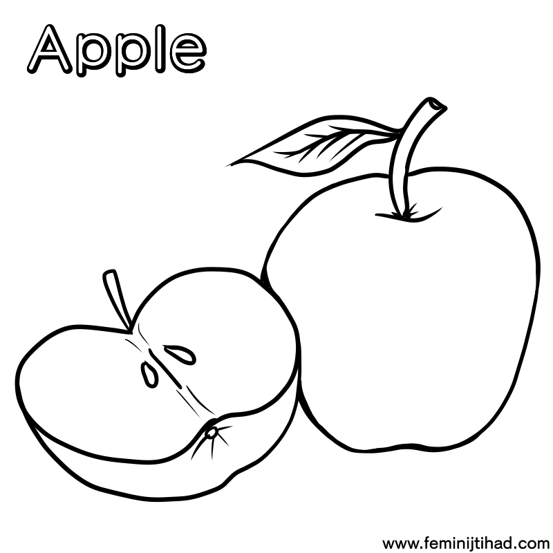 Printable Apple Coloring Pages Apple Coloring Pages Coloring Pages Cartoon Coloring Pages