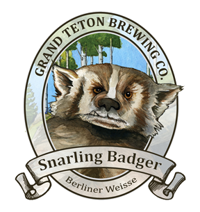 Craft beer labels/names I love - Snarling Badger from Grand Teton Brewing Co.
