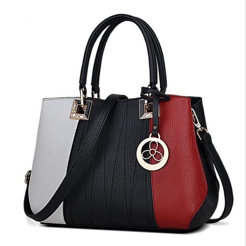 Designers Women Bag 2016 Fashion Patchwork women Messenger bags casual tote  leather handbags Famou Brands female shoulder bag 3893c8ec30e91