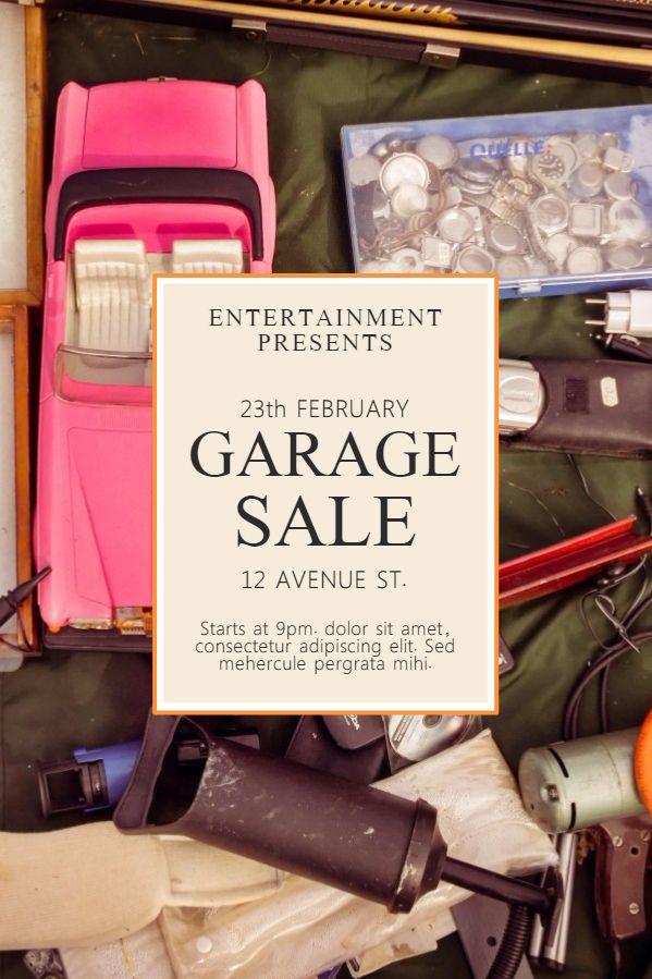 Garage sale poster flyer social media post template. | Garage Sale ...