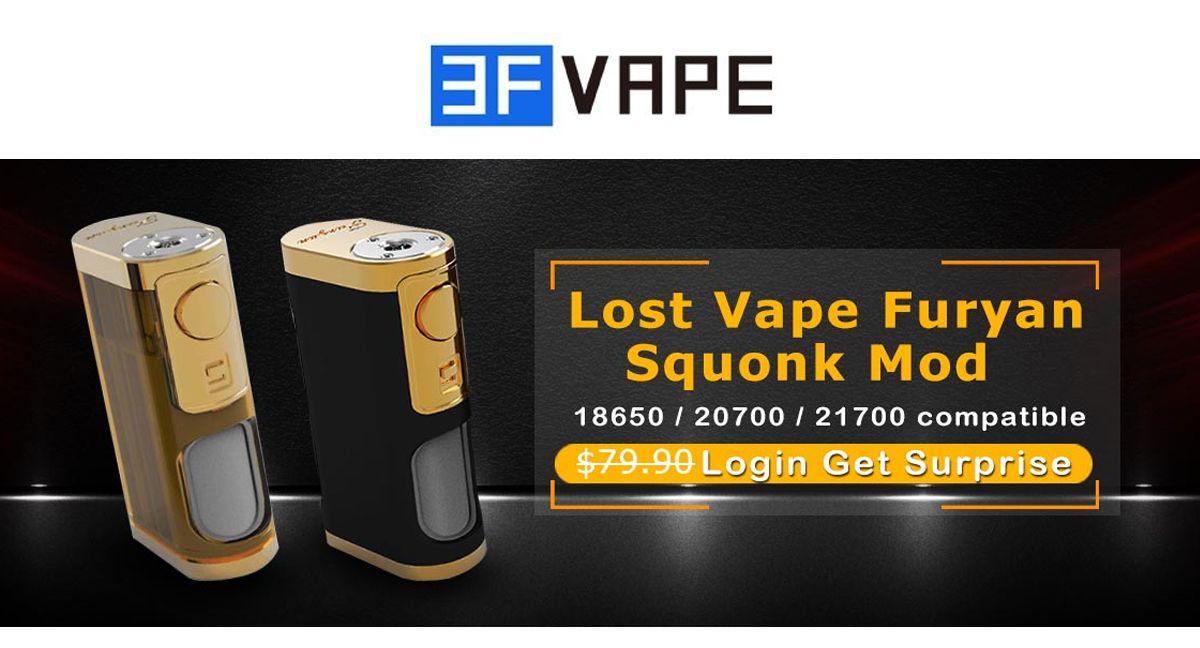 3Fvape Lost Vape Furyan Squonk Mod #cig #ecig #vapor