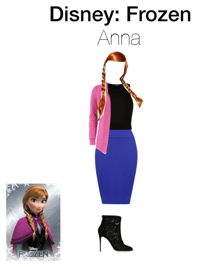 """Anna"" by cal2003 ❤ liked on Polyvore featuring Disney, WearAll, River Island, Manon Baptiste, Dolce&Gabbana and Spree Picky"