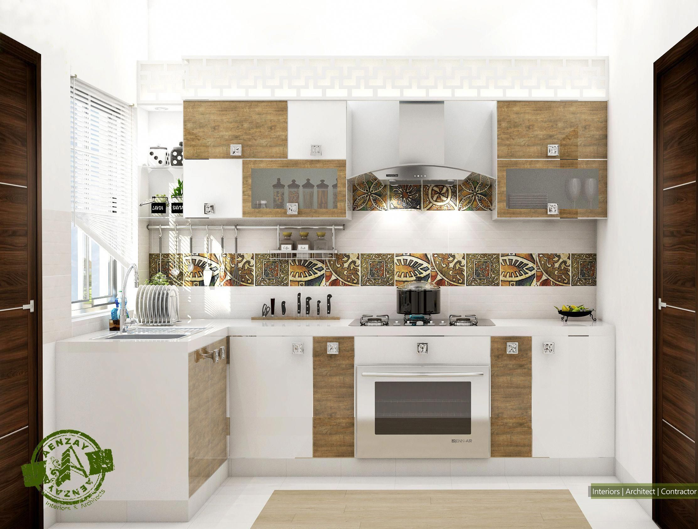 Modern Kitchen Design By Aenzay Interiors And Architects Tags
