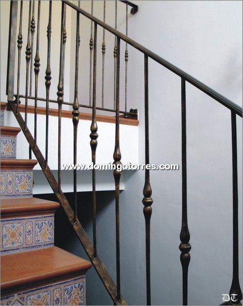 Baranda Económica Con Balaustres De Hierro Forjado Nº2084 Forja Domingo Torres S L Barandillas Escaleras Barandas Barandilla Escalera Interior