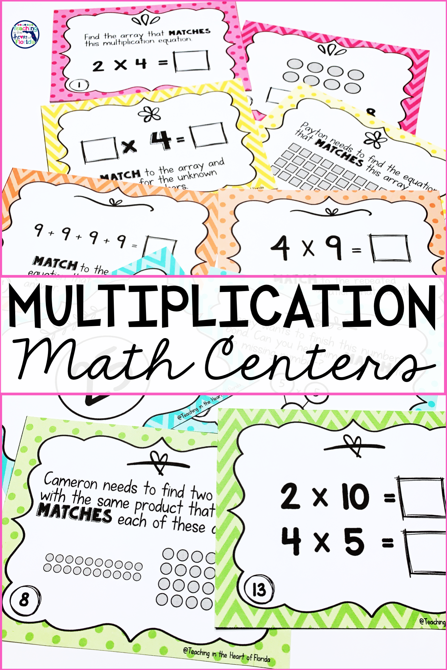 Multiplication Math Centers With Images