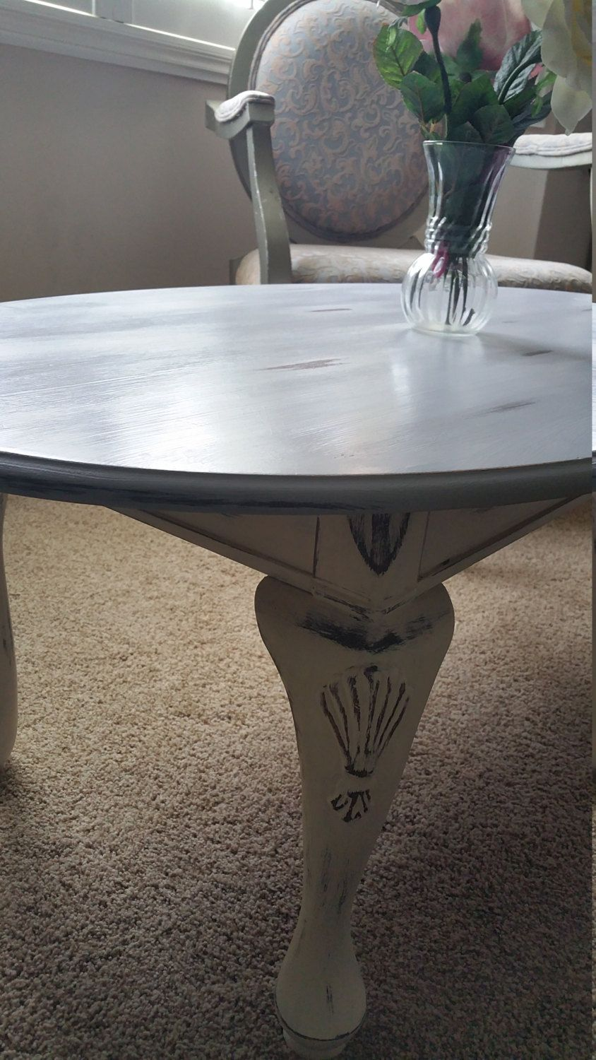 French country shabby chic coffee table paris grey and