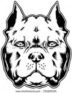American Bully Outline Art Bing Images Pitbull Drawing Dog
