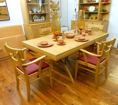 Heywood Wakefield Copycat Temple Stuart Dining Set Wheat