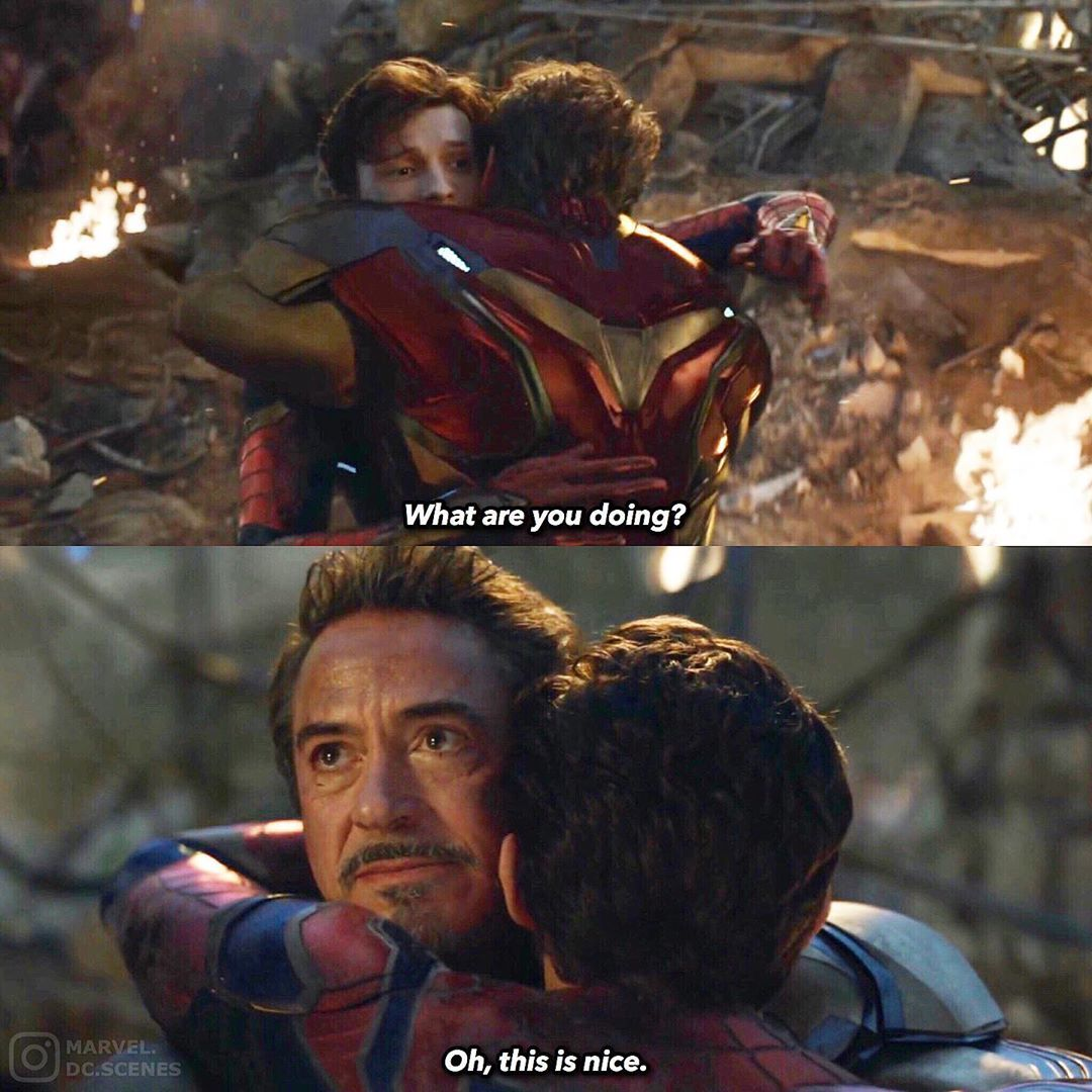"0 Days Until Endgame???? on Instagram: """"That's not a hug. I'm just grabbing the door for you. We're not there yet...""???? • • • • • • • #avengersendgame #avengersinfinitywar…"" #scenesfrommovies"