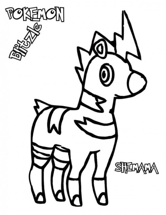 Pokemon Blitzle Coloring Pages