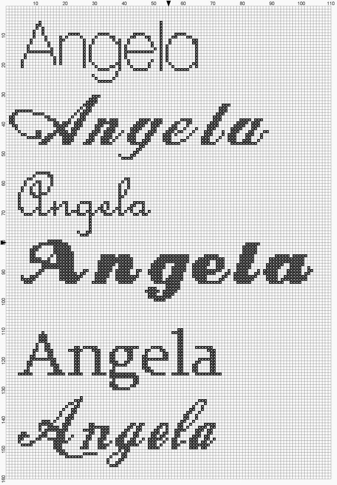 Pin su counted cross stitch names for Alfabeti a punto croce per bambini