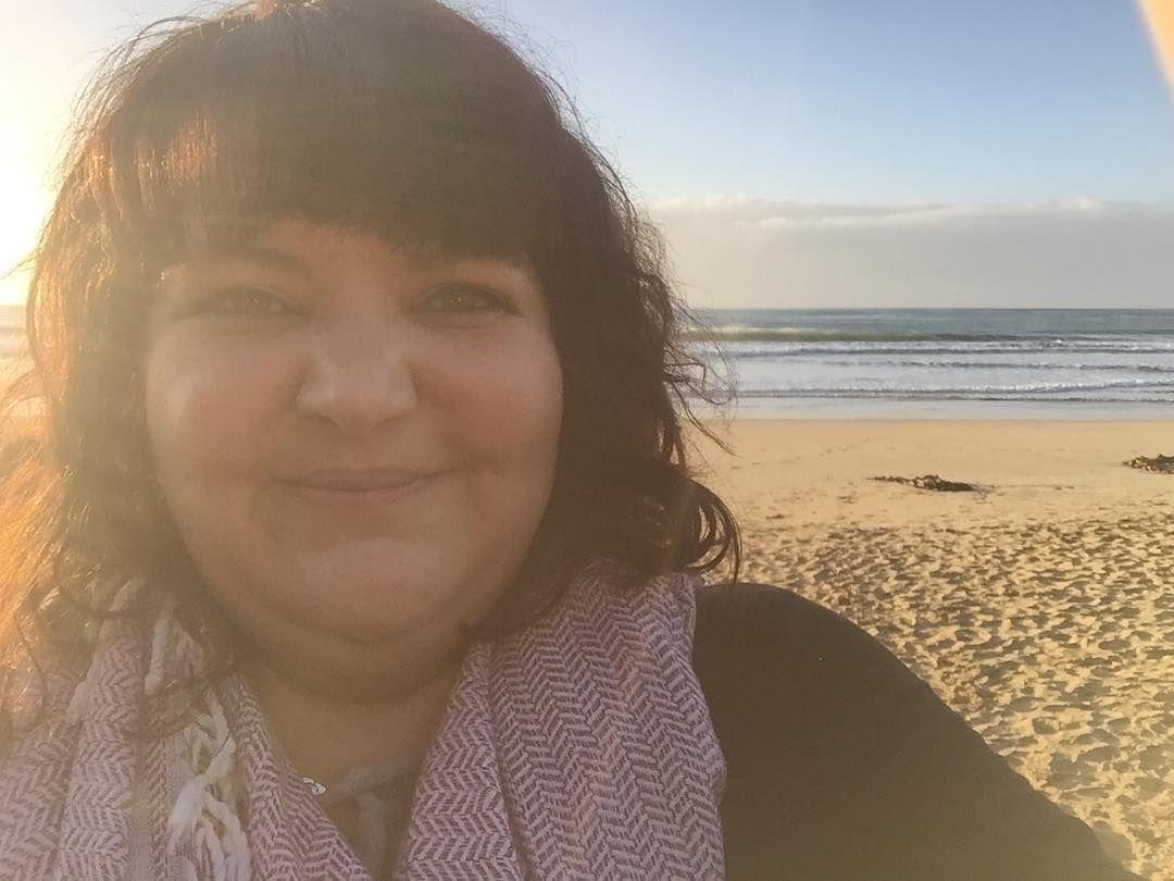 Do you think I was happy to start my day at the beach? #beyourownbeloved #selfie #lorne #werkperk by erinaree http://ift.tt/1IIGiLS