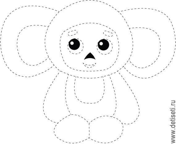 Deti Seti Obvodilki Cheburashka Felt Toys Art Dolls Colouring Pages