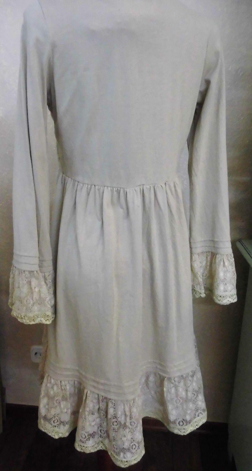 Kleid Tunika von Jeanne d´ Arc Living beige Elfe Romantisch | eBay
