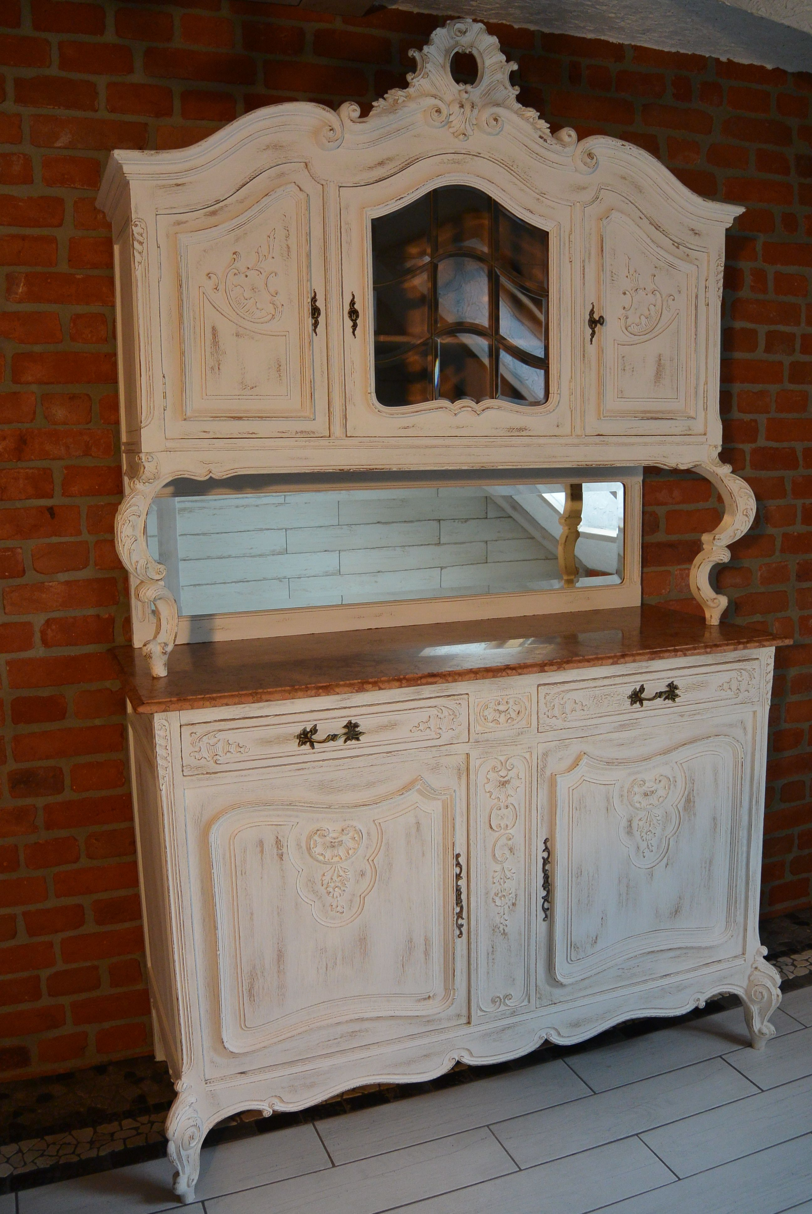 Living Room Buffet In Shabby Chic Look Antique Solid Oak In 2020 Shabby Chic Solid Oak Shabby